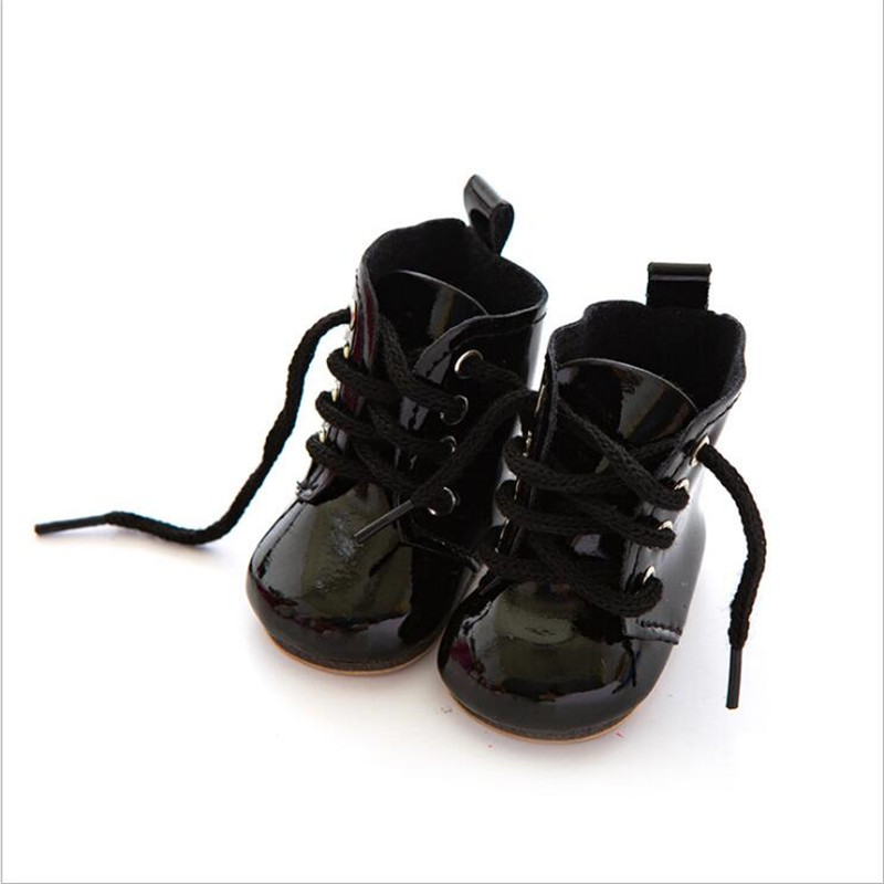 Born New Baby Doll Shoes Fit 18 inch 43cm Shoelaces Doll Accessories BJD White Black Red Pink Lace Boots For Baby Birthday Gift in Dolls Accessories from Toys Hobbies
