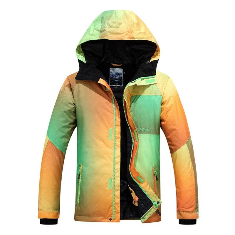 2018 Gsou snow hommes combinaison de ski planche unique veste de ski extérieur coupe-vent chaud combinaison de ski imperméable respirant veste de ski pour hommes
