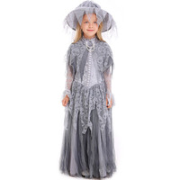 Kid Girls Halloween Ghost Corpse Bride Skull Print Costume Scary Tricking Zombie Clothing Horror Fancy Tutu Dress For Children