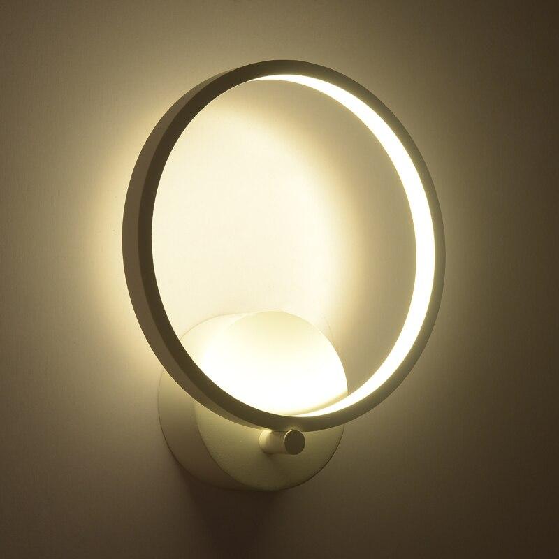 12W Black Acrylic Led Wall Light For Living Room Beside Room Bedroom Luminarias LED Sconce Bathroom Wall Lamp Modern AC85-260V