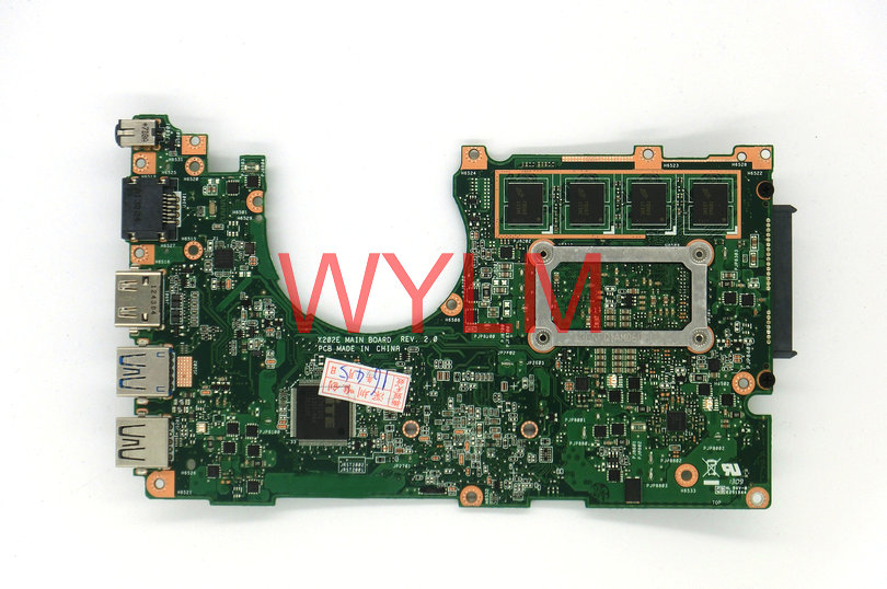 X202E Motherboard For ASUS X202 X202E laptop Mainboard SR0N9 I3 CPU 60-NFQMB1B01-A08 fully tested free shipping механизм сливной alca plast a08