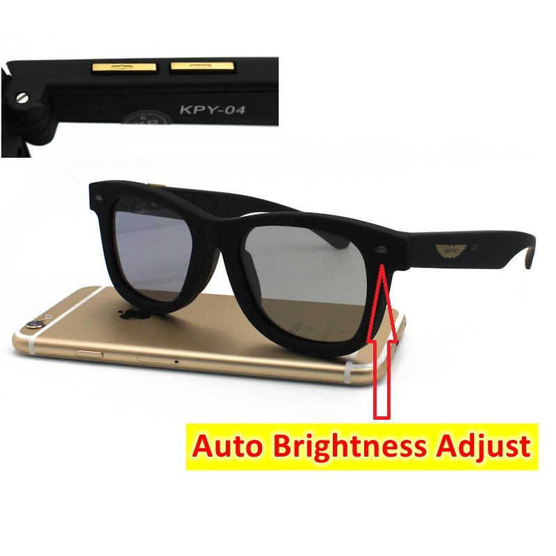 2020 La Vie Original Design Liquid Crystal Sunglasses Auto Adjustable Brightness LCD Polarized Lenses Sun Glasses Vintage Frame 1