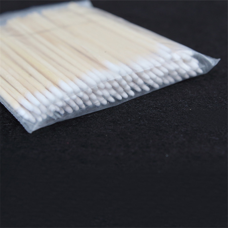 Pointed Cotton Swabs For Tattoo Eyebrow Lip Eyeline Nail Eyelash Permanent Makeup Ear Jewelry Clean 7.5cm