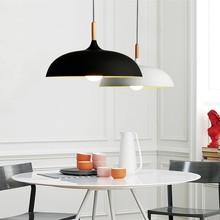 Nordic Minimalism droplight, black white aluminium cord pendant light for hanging type restaurant chandeliers ceiling
