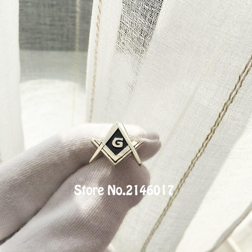 50pcs Custom Metal Badge Craft Lodge Free Masons Masonic Square and Compass G Lapel Pin Brooch