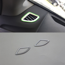 Car Accessories Interior Decoration ABS Front Upper Air Vent Outlet Cover Trims For BMW X1 2016 Car Styling цены