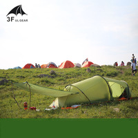 3f Ul Gear 2 Person 2 Room 4 Season Tunnel Tent 15D Silicon Outdoor Camping Hiking