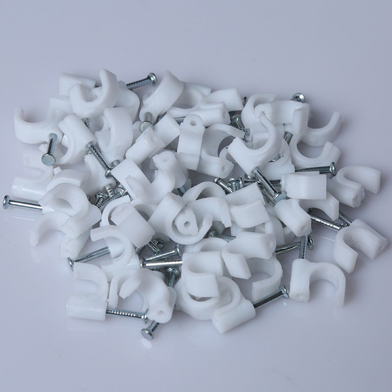 Twin and Earth Square Cable Clips  White 12mm 100Pcs LW