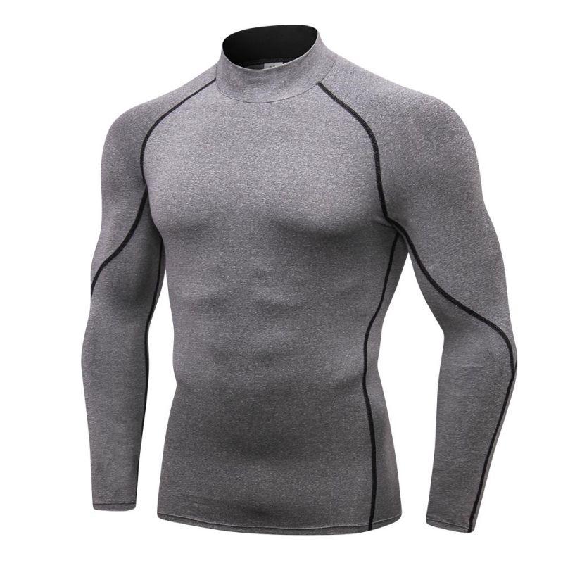 con capa de compresi/ón Camiseta manga larga t/érmica con cuello alto para mujer de tela nano tecnol/ógica