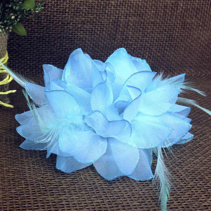 1 قطعة فتاة شاطئ الأوركيد الزفاف زهرة الشعر كليب المرأة بروش مشبك خوذة البوب
