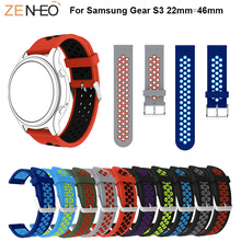 46mm wristband Silicone Band For Samsung Gear S3 Frontier/Classic 22mm Watch Strap Replace Bracelet Galaxy Watchband