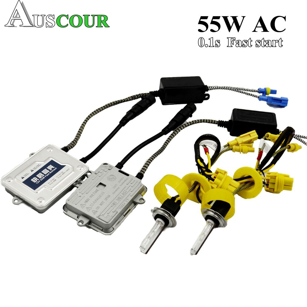 55W 35W hid xenon kit converison ballast for car headlight digital hid xenon kit auto lamp Bulb for h1 h3 h4 h7 Modify h7 55w 12v xenon hid kit car headlight slim ballast xenon bulb