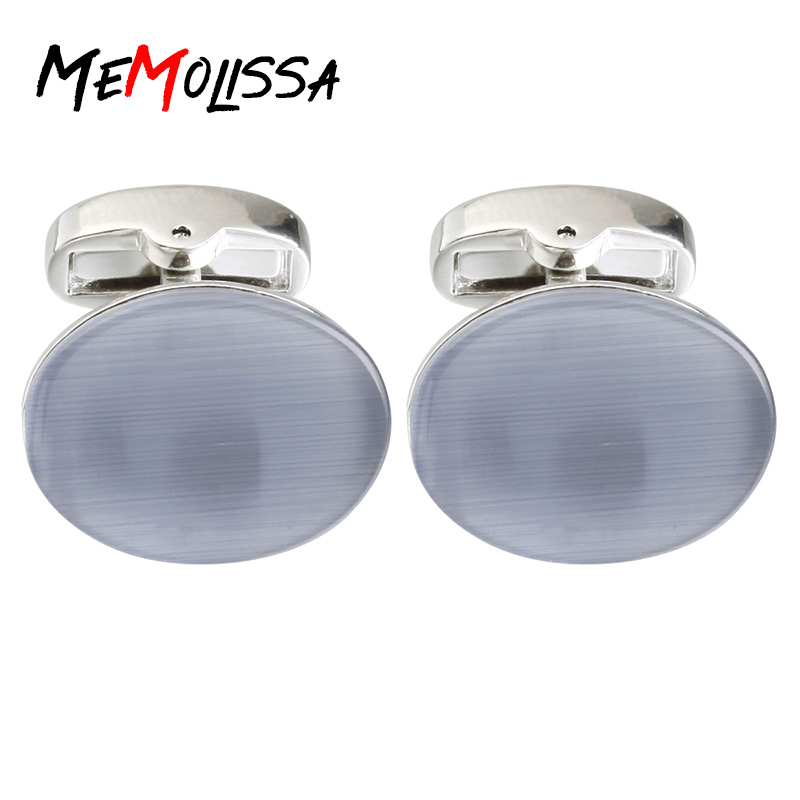 Motivated Memolissa High Quality Classic/elegant Cufflinks For Mens Light Blue Opal French Shirt Cuff Links Abotoaduras Jewelry Jewelry Sets & More