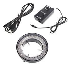 60 светодиодный регулируемый кольцевой светильник осветитель лампа для стерео микроскопа EU Plug