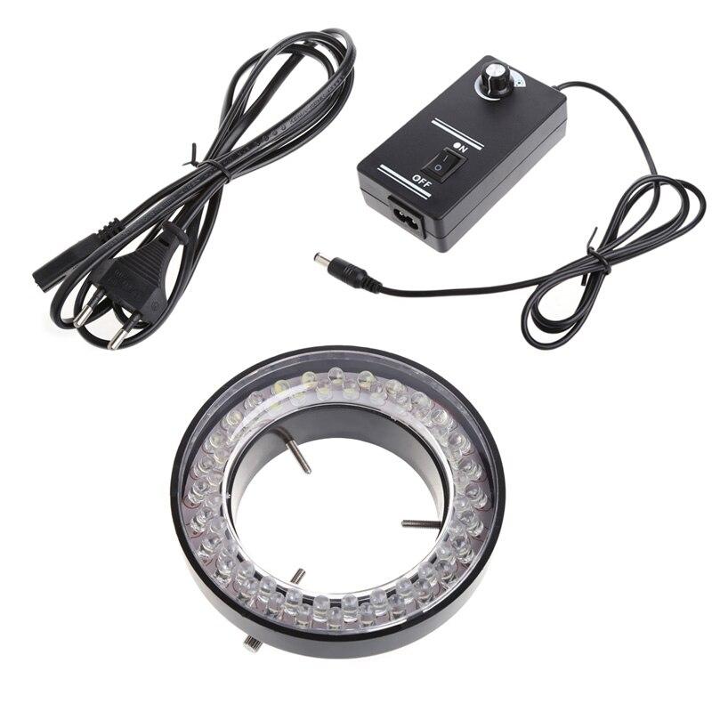 60 led ajustável anel luz iluminador lâmpada para microscópio zoom estéreo plug ue