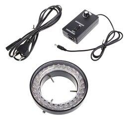 60 LED Adjustable Ring Light illuminator Lamp for STEREO ZOOM Microscope Microscope EU Plug