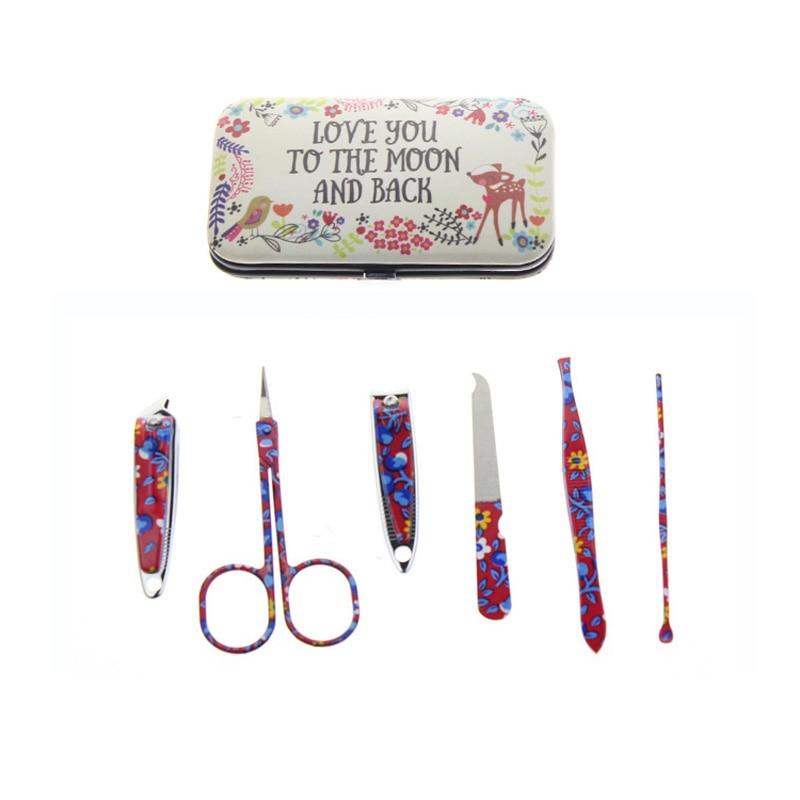 6Pcs / Set Bunga Bercetak 2 Jenis Profesional Hantu Manicure Set Alat - Seni kuku - Foto 2