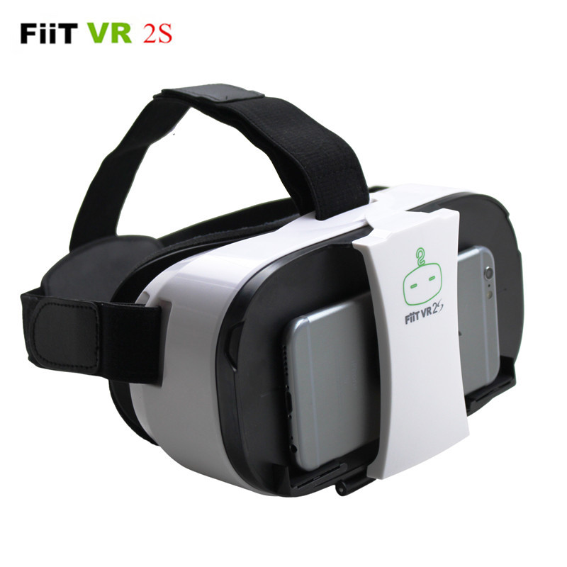 """FiiT <font><b>VR</b></font> 2S <font><b>Virtual</b></font> <font><b>Reality</b></font> <font><b>VR</b></font> <font><b>Glasses</b></font> <font><b>Mobile</b></font> <font><b>Phone</b></font> 3D Video Movie Helmet <font><b>Cardboard</b></font> 2 for iPhone/Samsung 4.0-5.5/6.5"""" Smart <font><b>Phone</b></font>"""