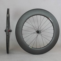 Aero Bicycle Carbon Wheel Tubular Clincher Tubeless Rim Road Bike with DT Swiss 240S Hub 88mm wheels