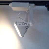 Luz do ponto quadrado iluminação museu levou faixa 30 W em preto Branco 85 265 V Bridgelux iluminação de exposições|led track|led track lighttrack led -