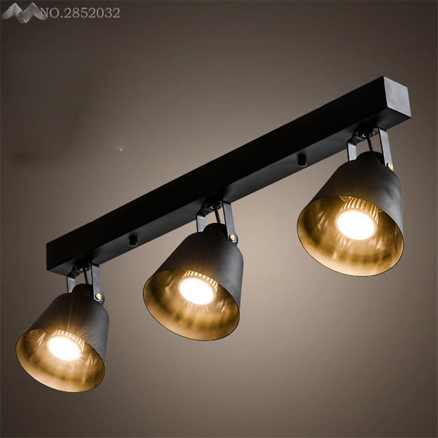 spotlights ceiling lighting. Modern Minimalist American Arts Lamp Track Light Retro Space Industrial Bar Clothing Store Spotlights Ceiling Background Lighting