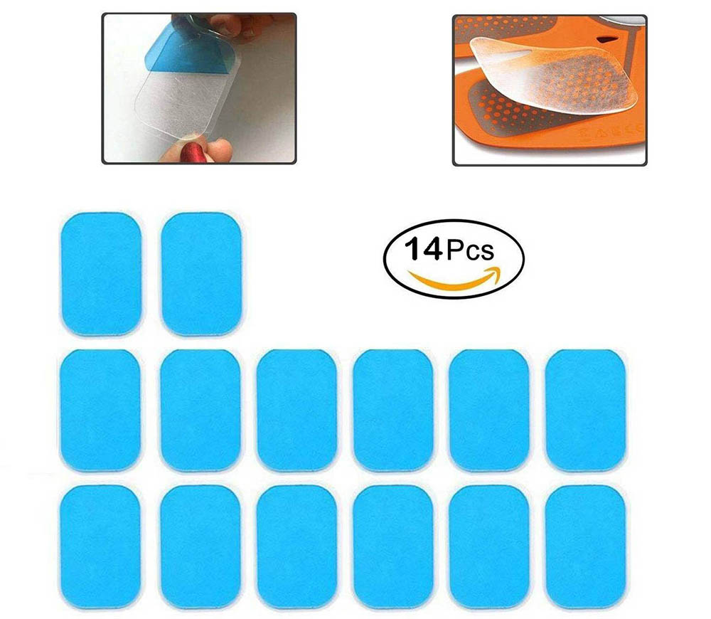 50PCS Abs Gel Pads Sticker Stimulator Trainer Abdominal Toning Belt Muscle Toner