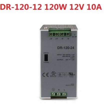купить DR-120-12 120W 12V 10A Single Output Industrial DIN Rail Power Supply недорого