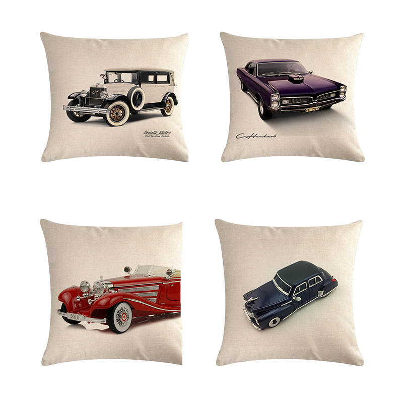 Pillow Series New Year Gift Classic Car Homerdecor Cushion Cover Throw Pillowcase Pillow Covers 45 2019 Fashion Cushion 45cm Sofa Seat