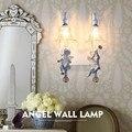 Двухголовый скандинавский настенный светильник для детской комнаты  спальни  американские простые зеркальные фары  европейская прикроват...