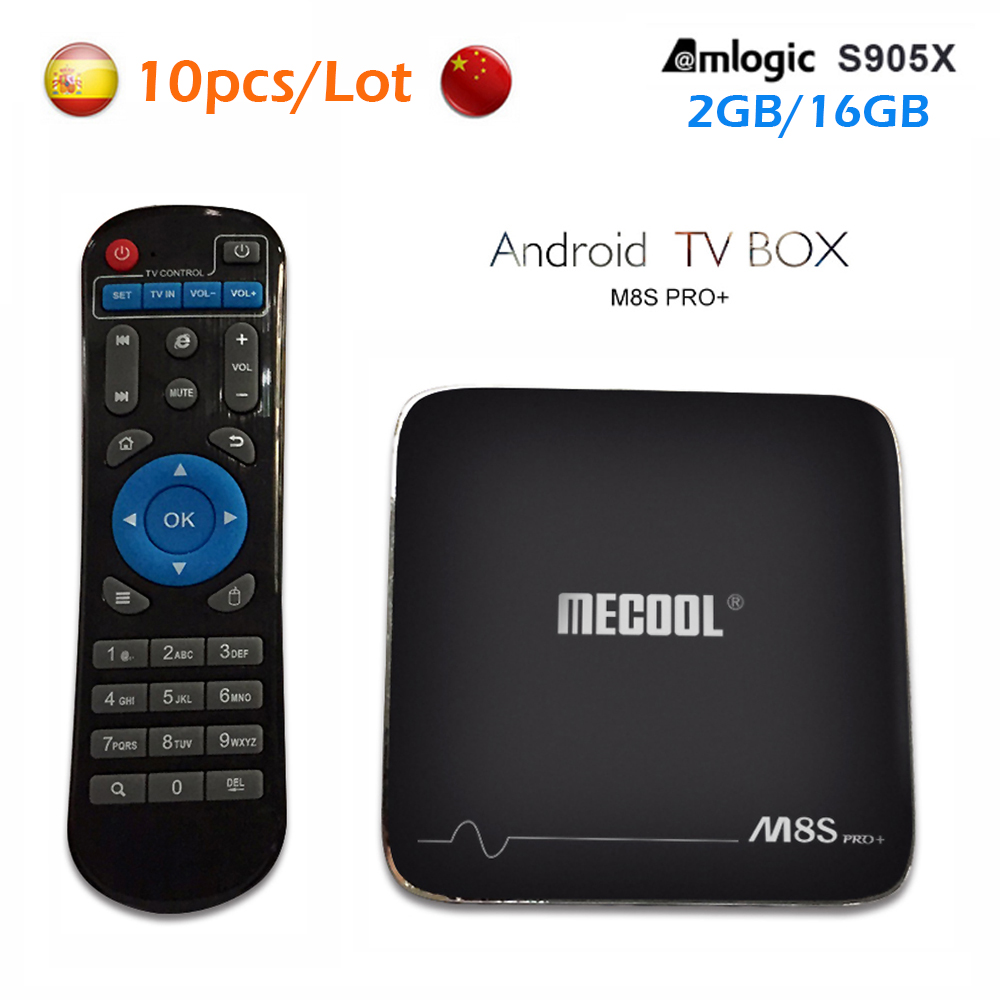 [Genuine] Mecool M8S Pro+ 2GB ROM 16GB Smart Android 7.1 TV Box Amlogic S905X Quad core Set Top Box WiFi 4K mini pc Media Player x96 android 6 0 tv box amlogic s905x max 2gb ram 16gb rom quad core wifi hdmi 4k 2k hd smart set top box media player pk a95x