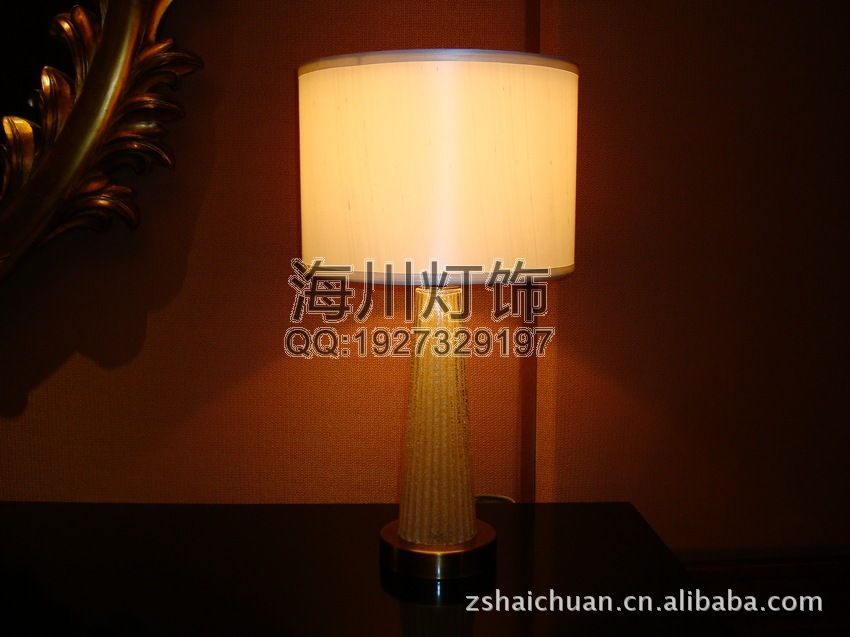 Manufacturers custom cloth resin lamp hotel room Desktop lamps