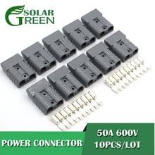 10 компл./лот 600V 50A SH50 Штекерный разъем, двойной полюс с медными контактами для солнечных панелей, батарея для фургонов
