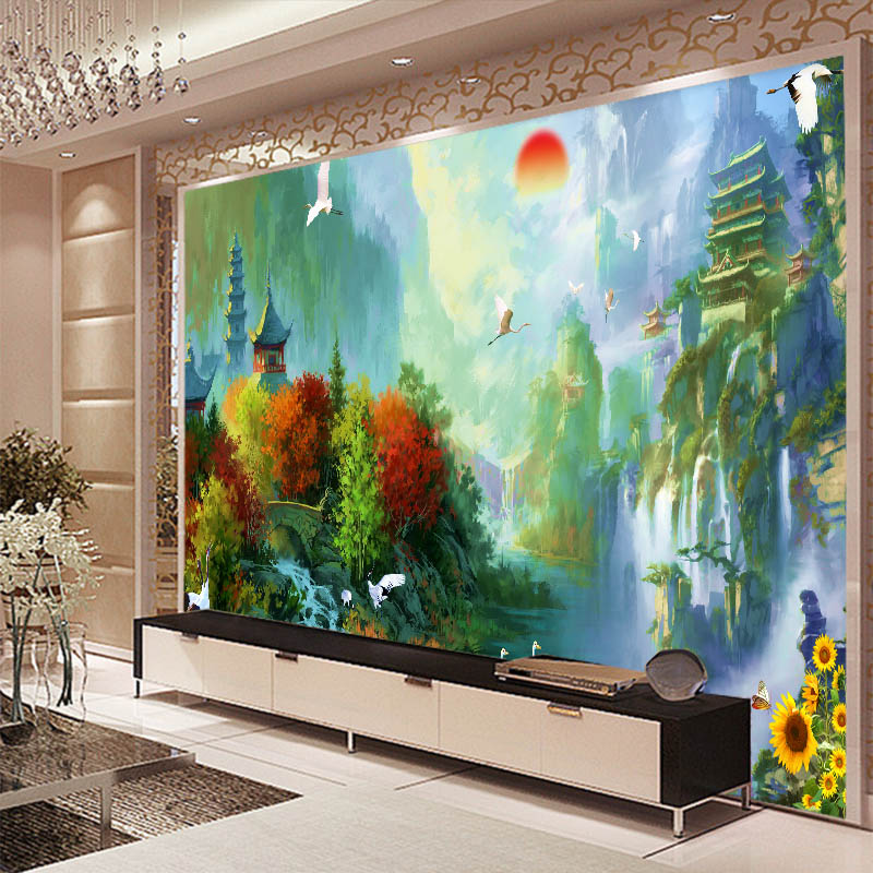 Free Shipping European style wallpaper restaurant hall porch KTV living room TV Bar background forest scenery wallpaper mural  free shipping european wine cellar wallpaper ktv bar restaurant industry lounge hall decoration beer cup wallpaper mural