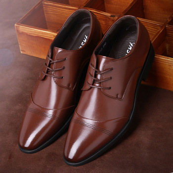 Seasons Men Big Size Stitching Leather Dress Shoes Mens Fashion Solid Color Large Casual Oxford Shoes Male Lace-Up Wedding Shoes