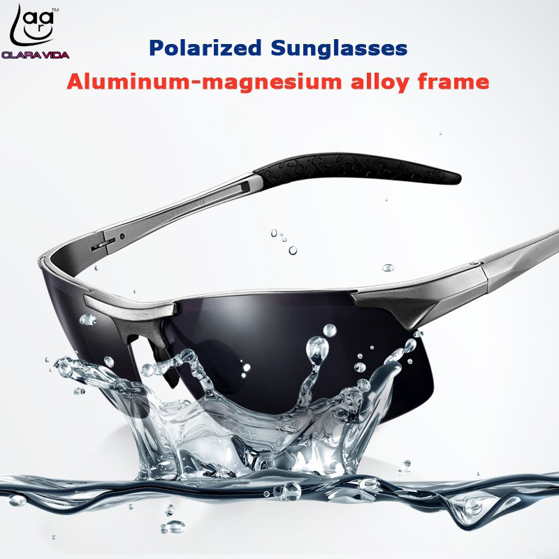 Deporte clara vida 2017 marca esporte uv400 100% uv óculos de alumínio em  liga de magnésio óculos polarizados do vintage óculos de sol óculos de  motorista ... fd090cfdaf
