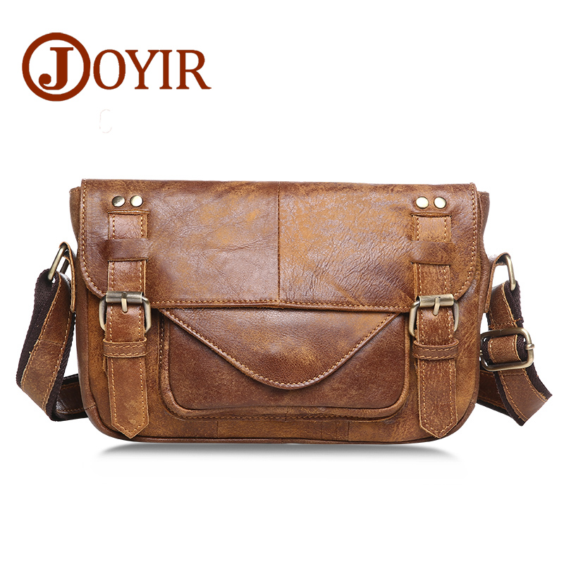 Famous Brand Genuine Leather Men Shoulder Bags Vintage Messenger Bags Crossbody Bag For Men Leather Male Business Men Bags