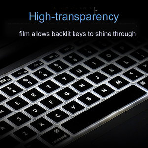 Image 5 - WIWU US Layout Laptop Keyboard Cover for MacBook Pro 16 2019 High Transparency No Letters Waterproof for MacBook Keyboard Cover