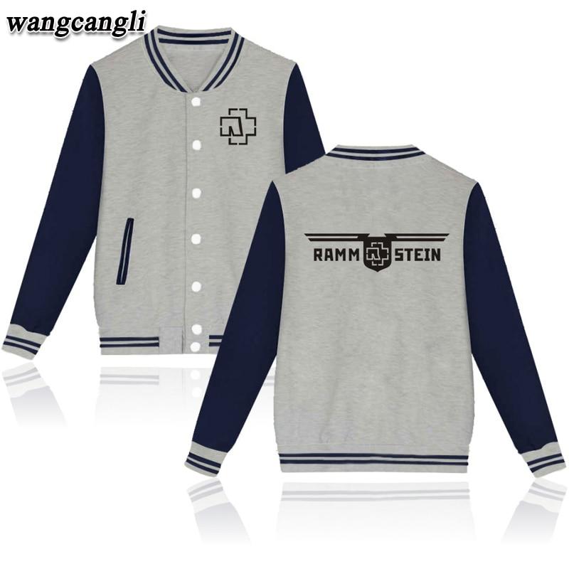 Rammstein Punk Style font b Women b font Baseball font b Coat b font Jacket in