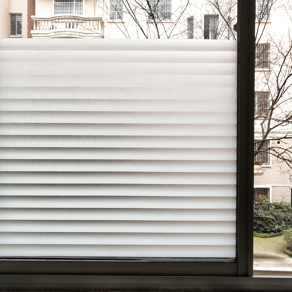 WXSHSH Stained Blinds Pattern Privacy Window Film,Tinted Glass Foil,Static Cling No Glue Anti-UV Sticker for Bathroom