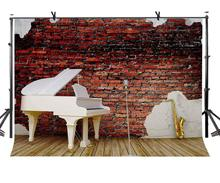 150x210cm Red Brick Wall Backdrop Vintage Classical Music Photography Background for Camera Photo