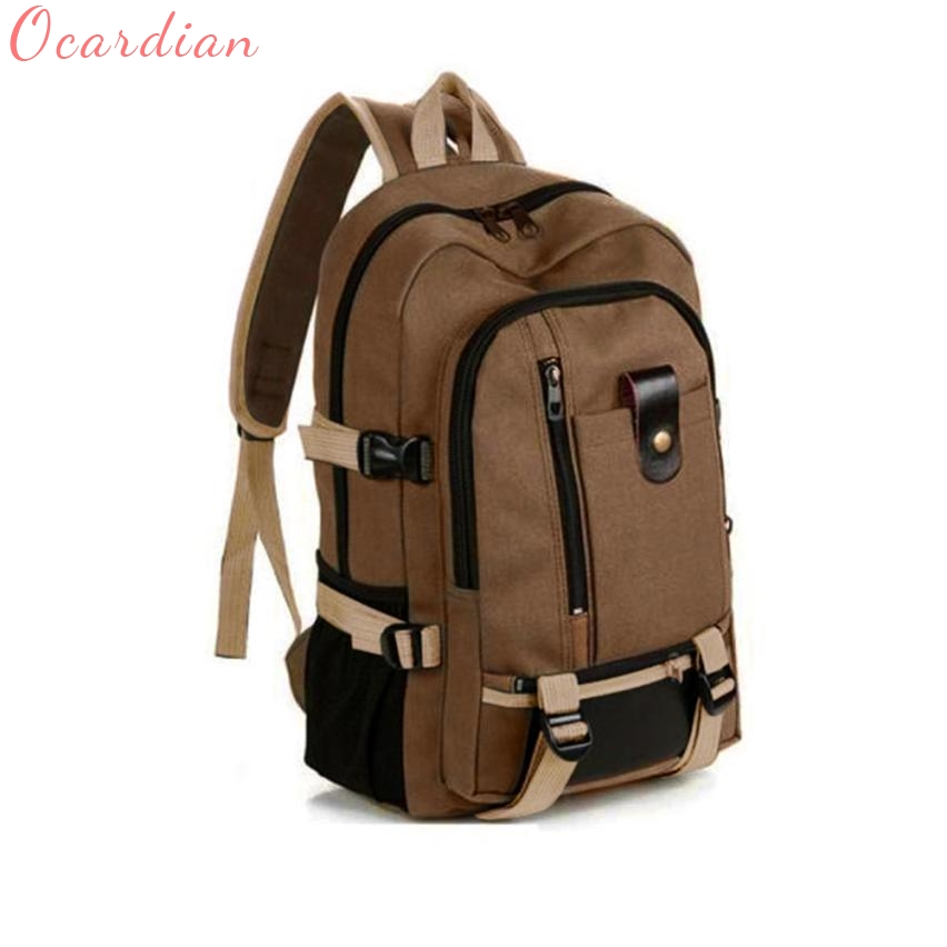 Women Men Backpack Top Quality Shoulder Bag Unisex Vintage Travel Canvas Leather Rucksack Satchel School Gift Mochila 17July6