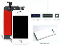 Dhl 10pcs Mobile Phone Parts Replacement Lcd Touch Screen Digitizer Glass Assembly + Front Screen For Iphone 4g Display