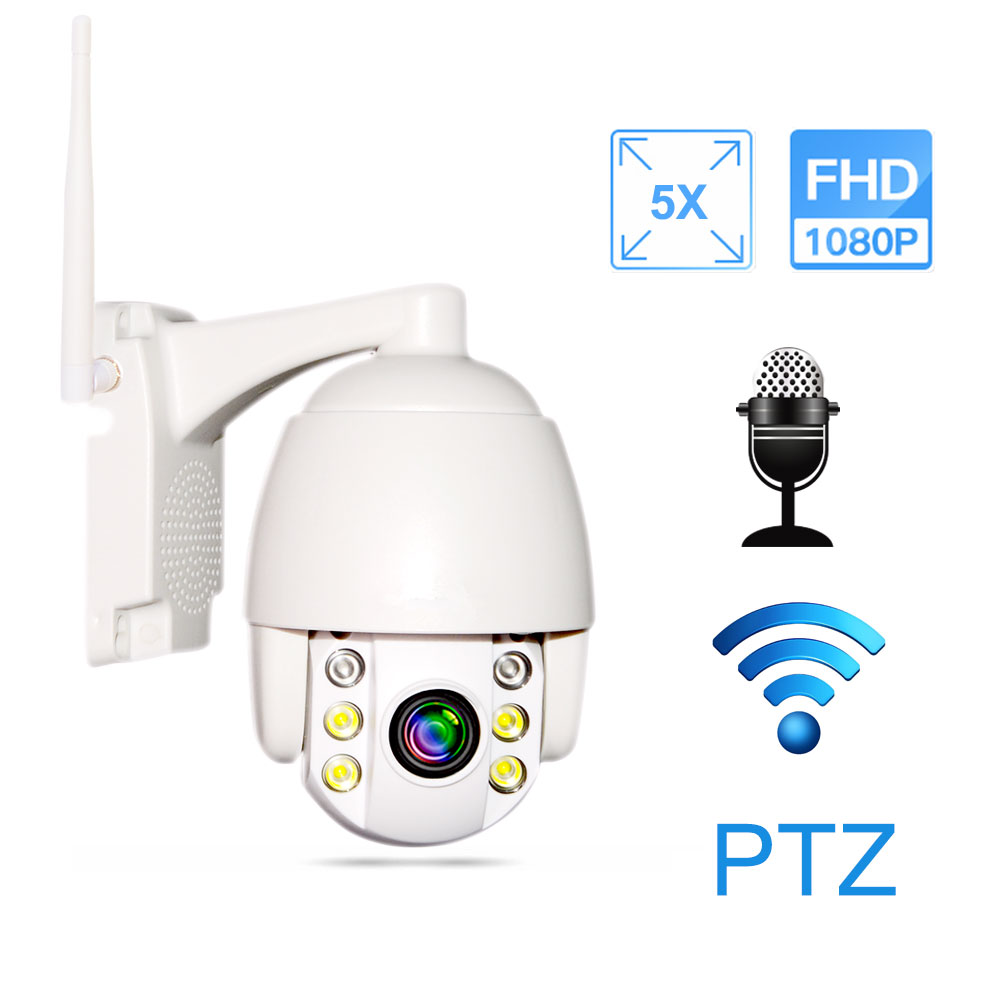 1080P IP Camera Wifi Outdoor Speed Dome 5X Optical Zoom Wireless Security Surveillance Camera Two Way