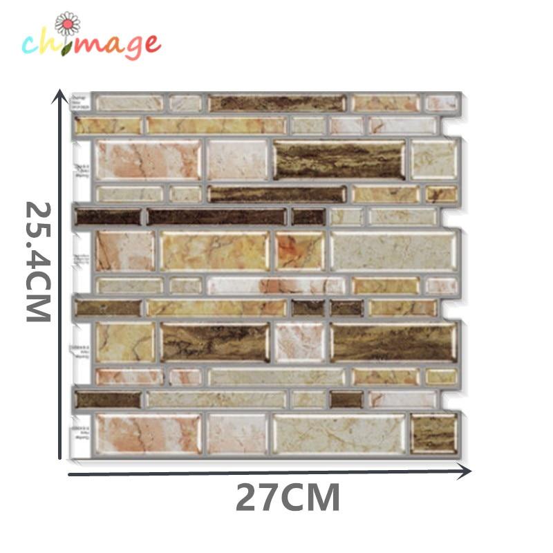 3D Self Adhesive Mosaic Tile Wall Sticker DIY Kitchen Bathroom Backsplash Home Decor Foil Wallpaper N