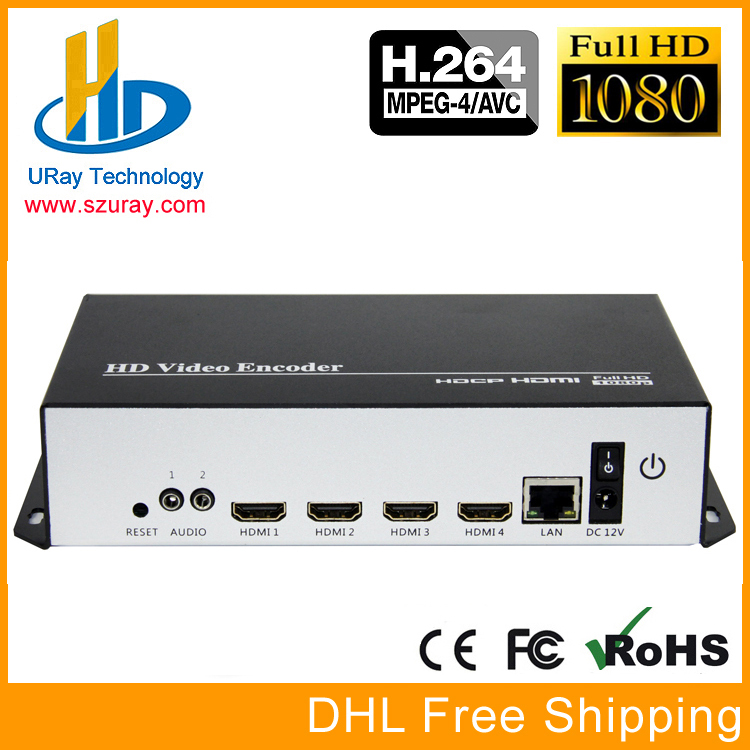 URay 4 In 1 HDMI + MIC To IP Live Streaming Video Audio Encoder H.264 RTMP Encoder HDMI Encoder IPTV H264 With HLS HTTP RTSP UDP 033 0512 8 encoder disk encoder glass disk used in mfe0020b8se encoder