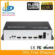 URay 4 Em 1 HDMI + MIC Para IP Ao Vivo Streaming de Áudio e Vídeo codificador H.264 Encoder HDMI Encoder RTMP IPTV H264 Com UDP HTTP RTSP HLS