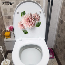 ZTTZDY 21.6*20.3CM Flowers Home Wall Decal Decor Fashion Creative Toilet Seat Stickers T2-0064