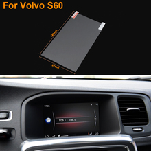 Car Styling 7 Inch GPS Navigation Screen Steel Protective Film For Volvo S60 Control of LCD Screen Car Sticker