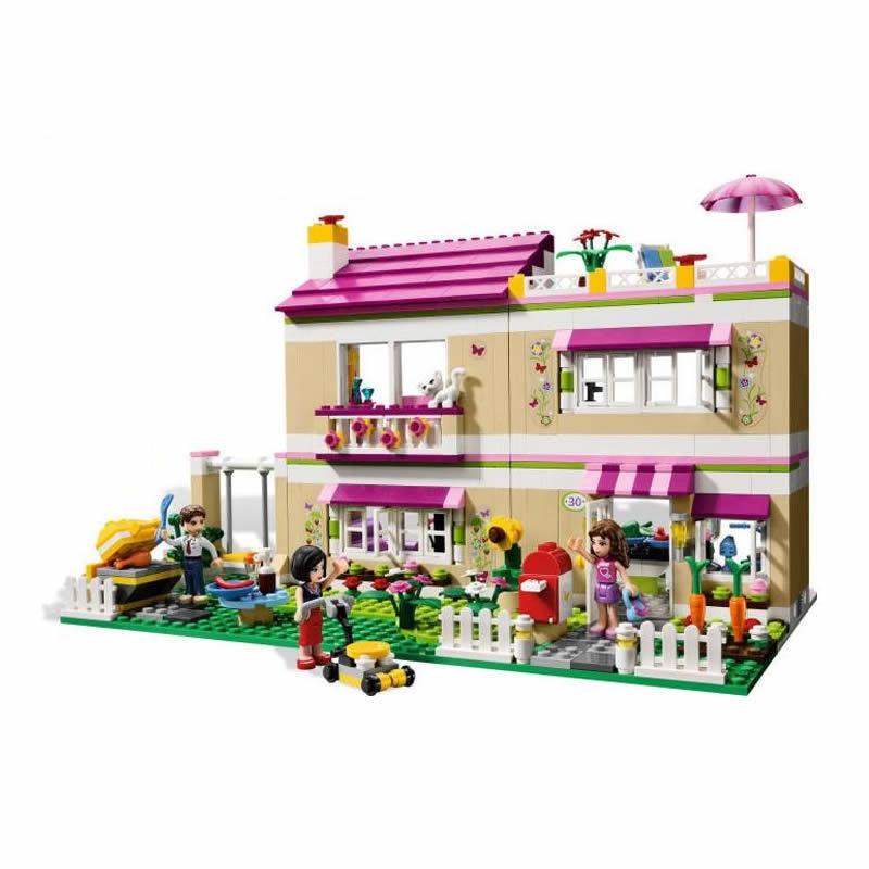 695pcs Bela 10164 Compatiable With playmobil Friends Olivias House Building Bricks Blocks Toys For Children Girls Game Castle