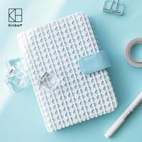 Kinbor Kawaii A5 Agenda 2017 Planner Cloth Book Cover Travel Notebook Journal DIY Diary HOBO A6 Dokibook Organizer Gifts